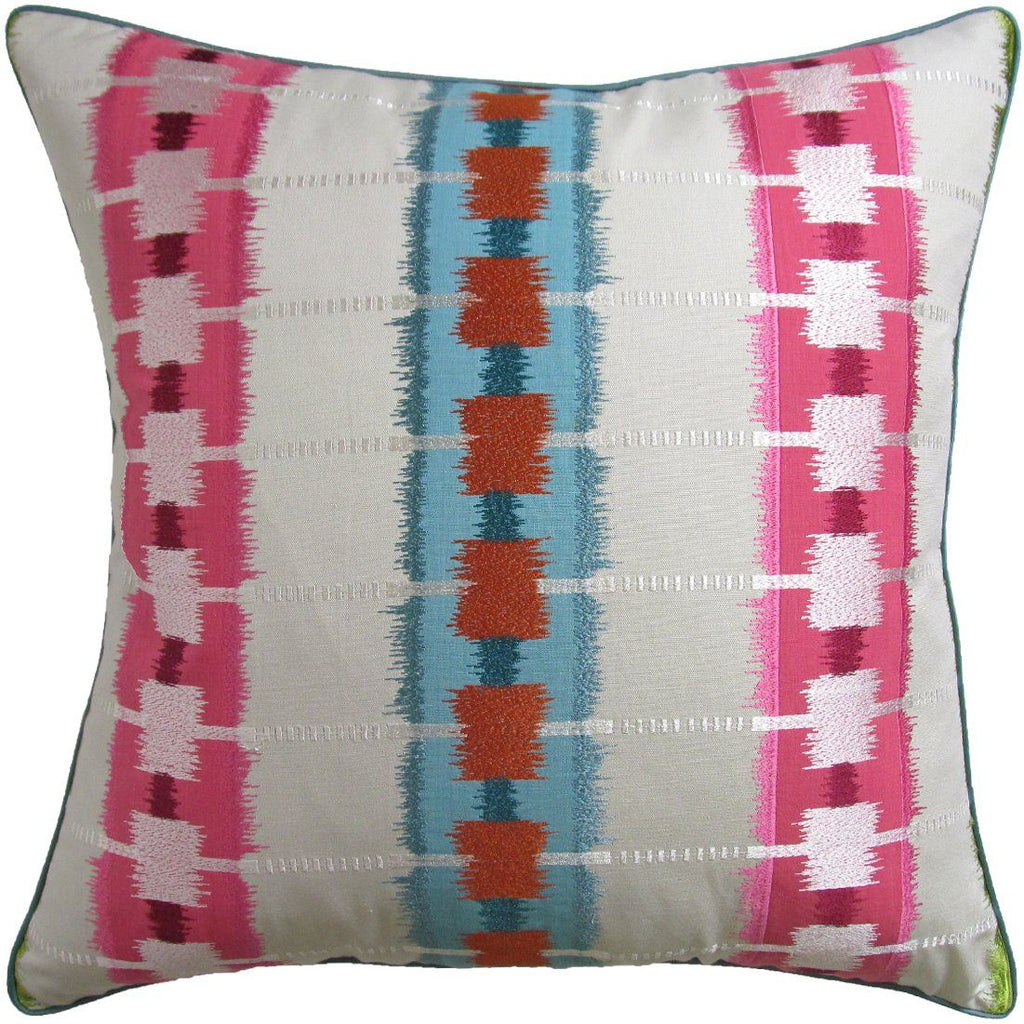 Sri Lanka Embroidery Pink Pillow | Ryan Studio Pillows at Fig Linens
