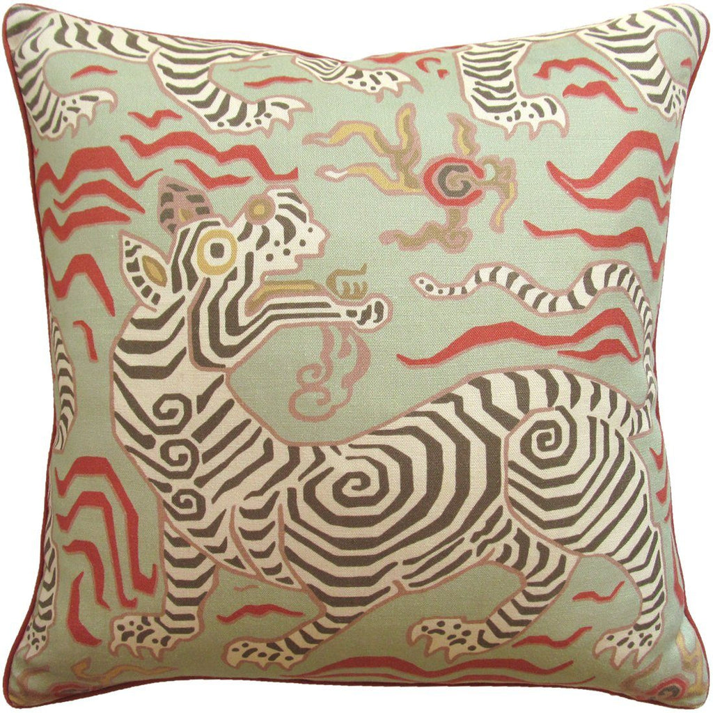 Tibet Pale Green Pillow Shop Ryan Studio At Fig Linens
