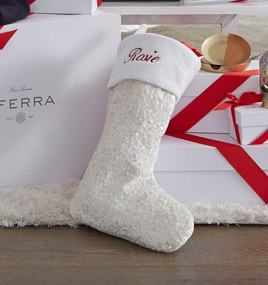 Blitzen Chritstmas Stocking by Sferra | Fig Linens and Home