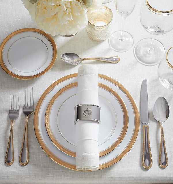 Signet Silver Napkin Rings by Sferra | Fig Linens