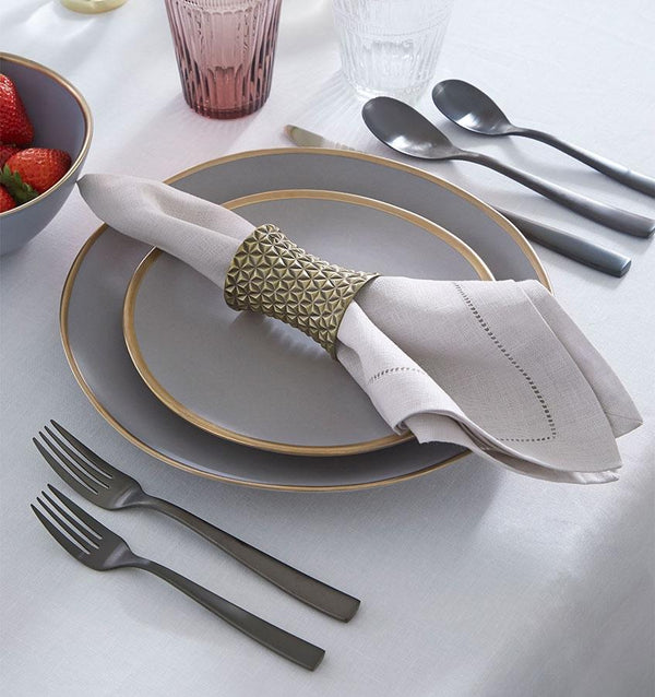 Facet Gold Napkin Rings by Sferra | Fig Linens and Home
