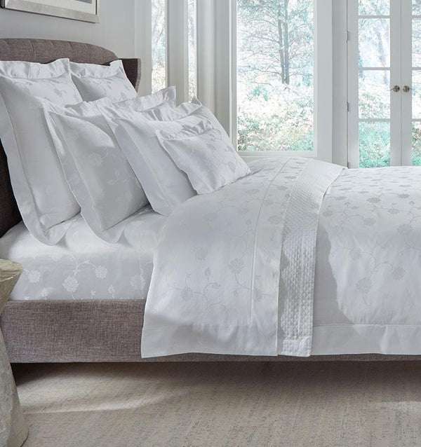Giza 45 White Jacquard Luxury Bedding by Sferra | Fig Linens