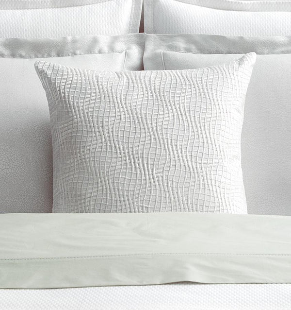 Illusione White Decorative Pillow by Sferra | Fig Linens and Home
