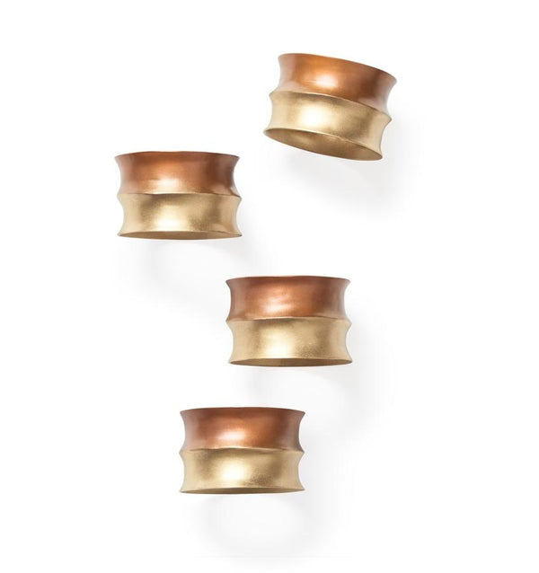 Campania Copper Napkin Rings by Sferra - Set of 4 | Fig Linens