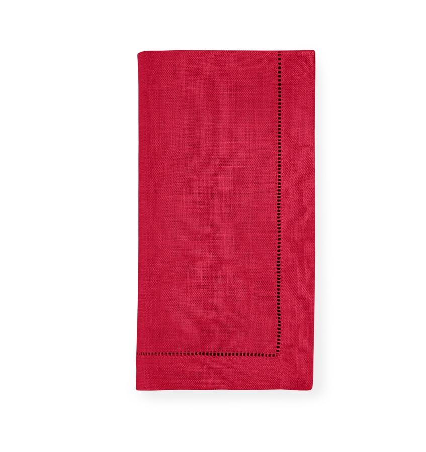 Fig Linens - Sferra Table Linens - Festival Crimson Napkins