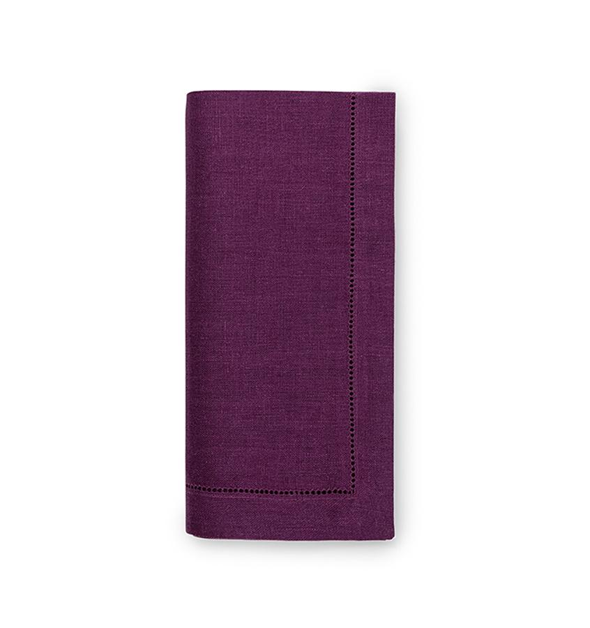 Fig Linens - Sferra Table Linens - Festival Aubergine Napkins
