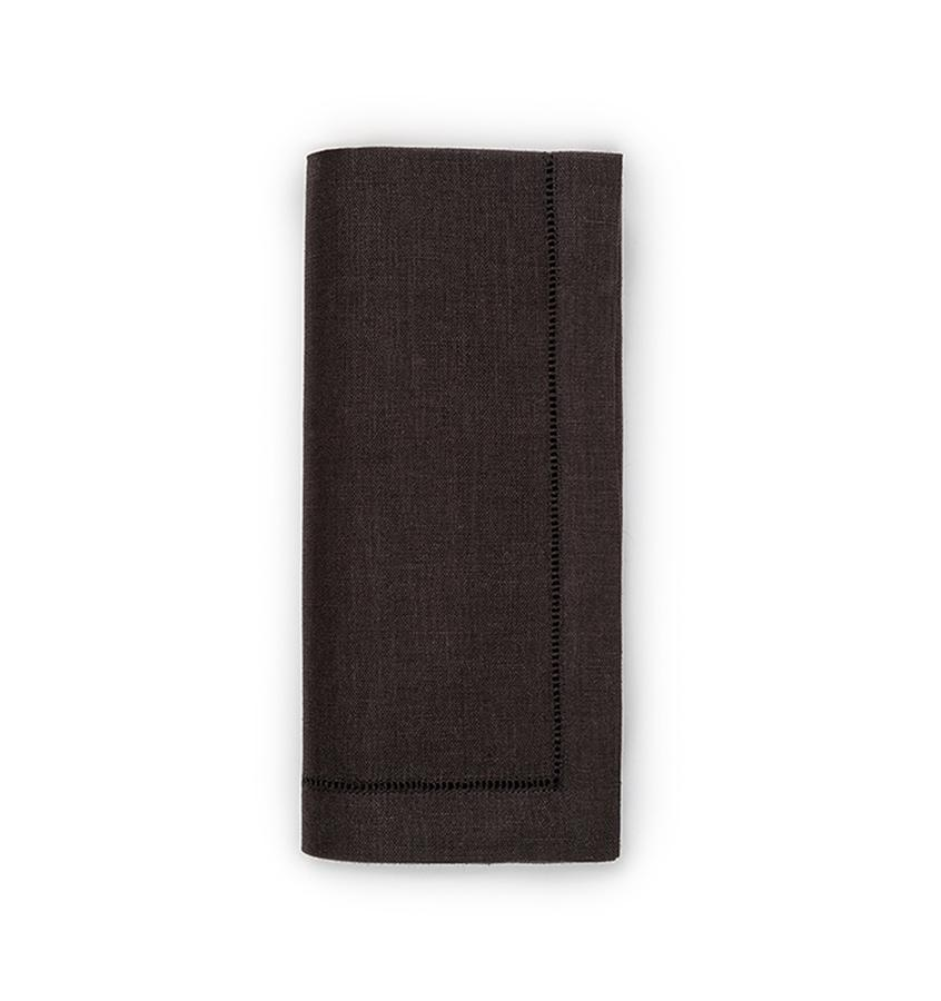 Fig Linens - Sferra Table Linens - Festival Black Napkins