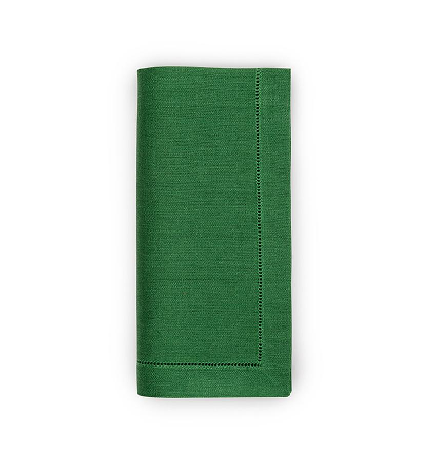 Fig Linens - Sferra Table Linens - Festival Emerald Napkins