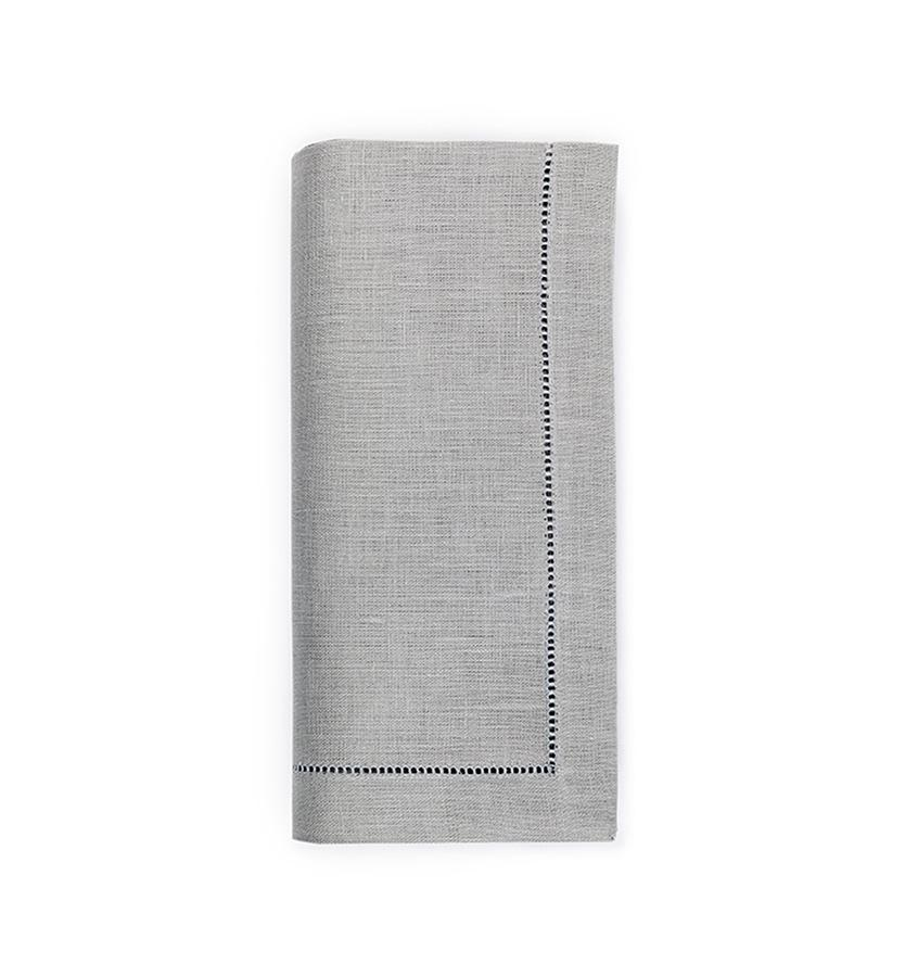 Fig Linens - Sferra Table Linens - Festival Grey Napkins