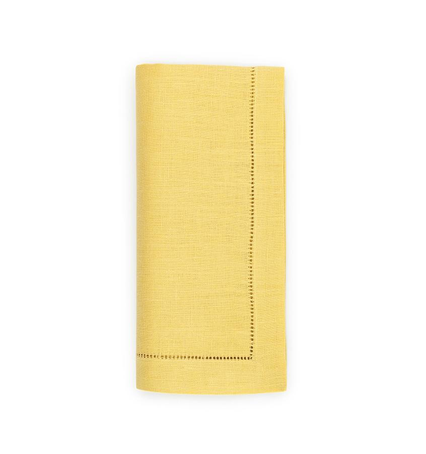 Fig Linens - Sferra Table Linens - Festival Lemon Napkins