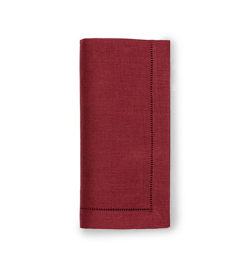 Fig Linens - Sferra Table Linens - Festival Merlot Napkins