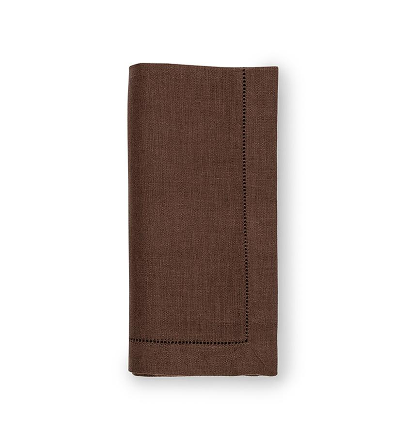 Fig Linens - Sferra Table Linens - Festival Mocha Napkins