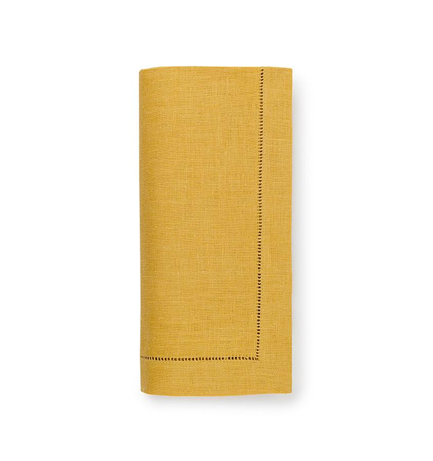Fig Linens - Sferra Table Linens - Festival Mustard Napkins
