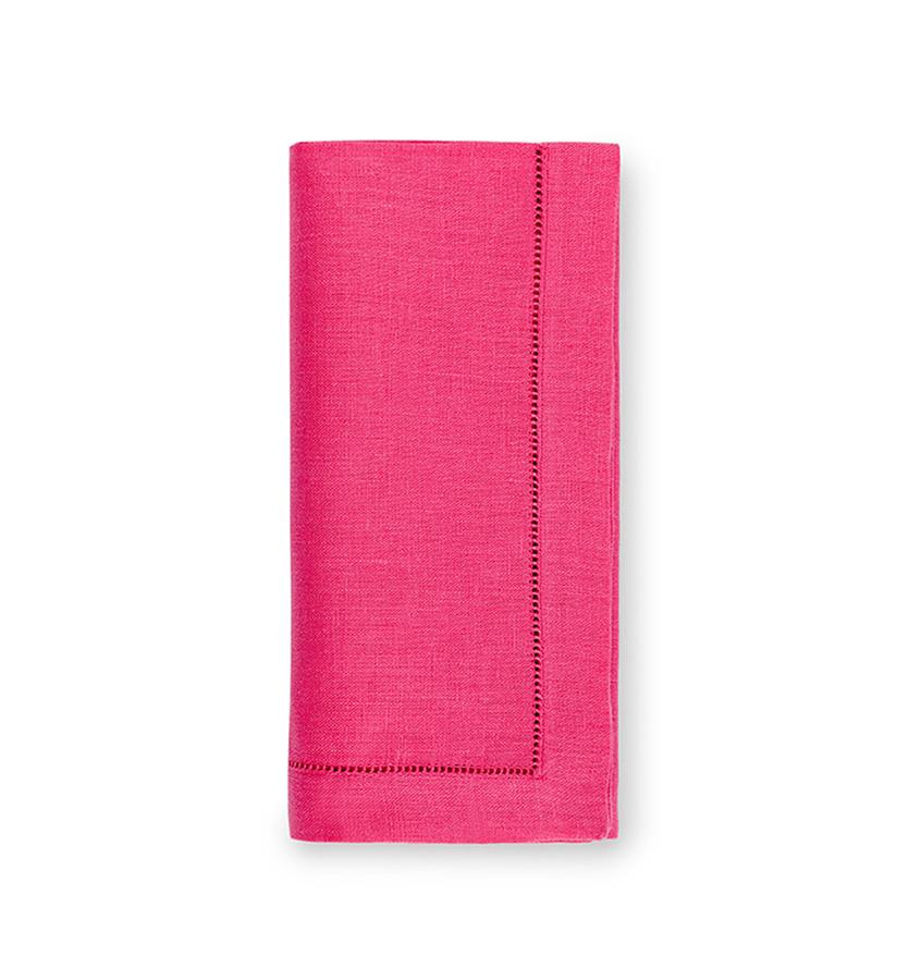 Fig Linens - Sferra Table Linens - Festival Raspberry Napkins