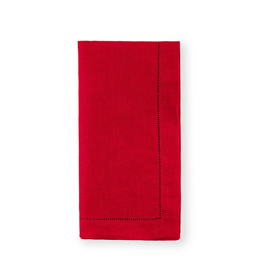 Fig Linens - Sferra Table Linens - Festival Red Napkins