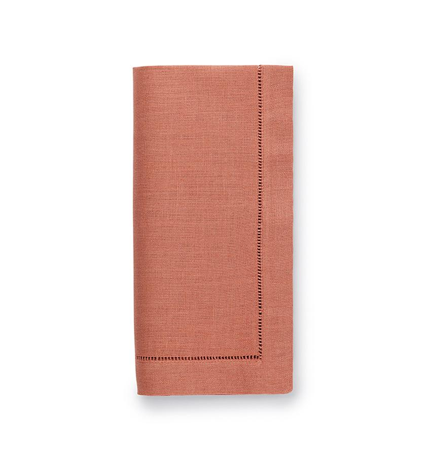 Fig Linens - Sferra Table Linens - Festival Salmon Napkins