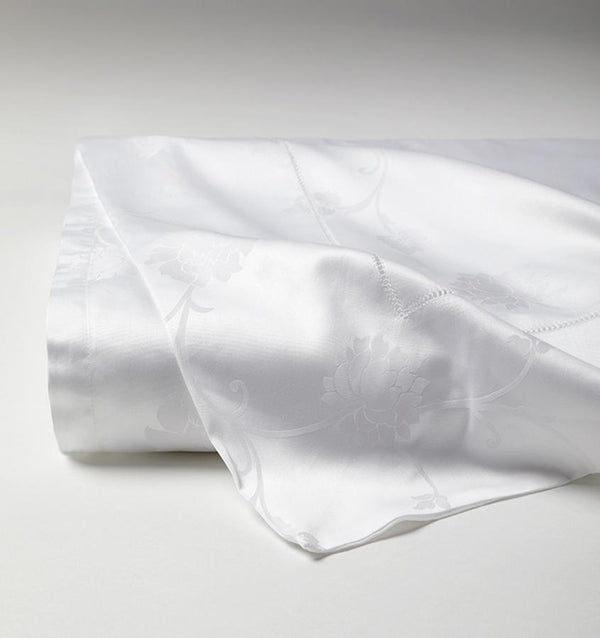 Giza 45 White Jacquard Luxury Sheet Set by Sferra | Fig Linens