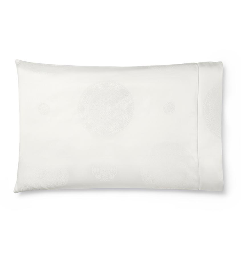 Ivory Giza 45 Medallion Pillowcases by Sferra | Fig Linens