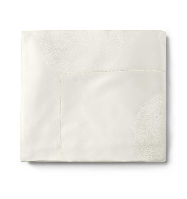 Ivory Giza 45 Medallion Sheet Set by Sferra | Fig Linens