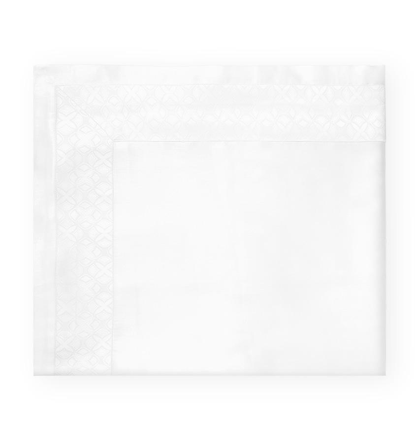 White Giza 45 Quatrefoil Flat Sheet by Sferra | Fig Linens and Home