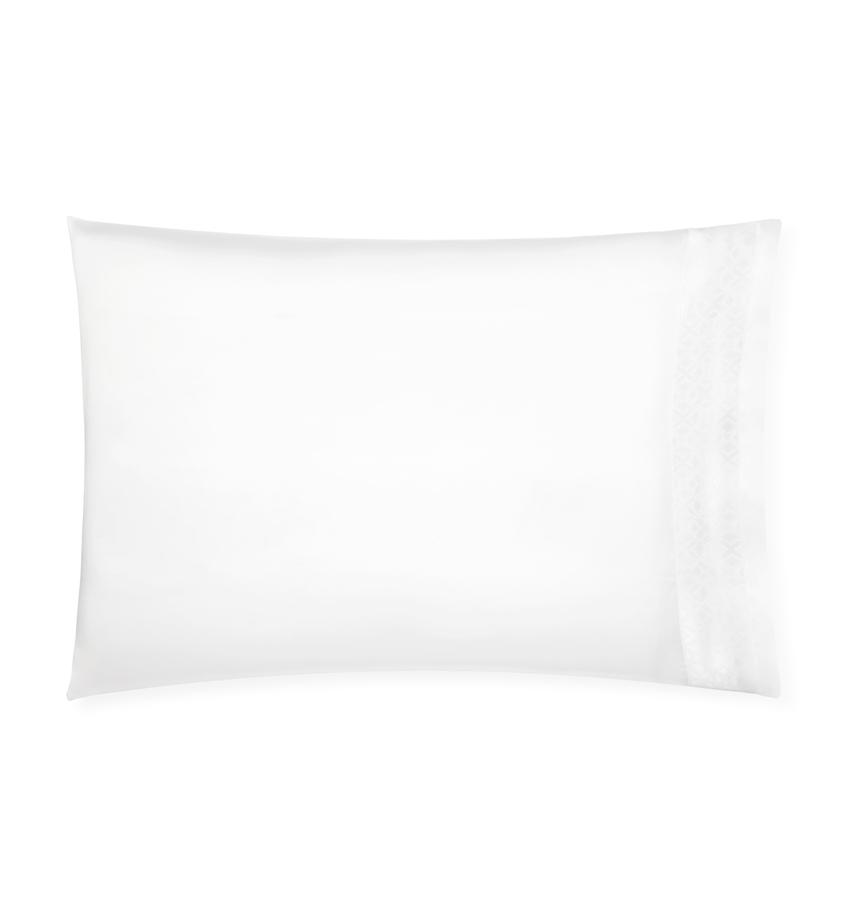 White Giza 45 Quatrefoil Pillowcase by Sferra | Fig Linens and Home
