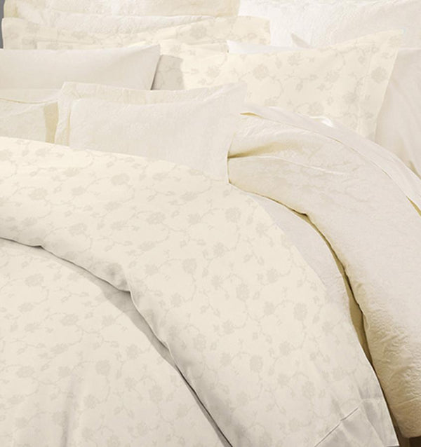 Giza 45 Ivory Jacquard Luxury Sheet Set by Sferra | Fig Linens