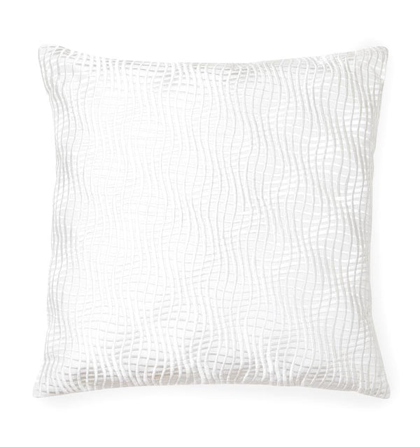 Illusione White/Ivory Decorative Pillow by Sferra | Fig Linens and Home