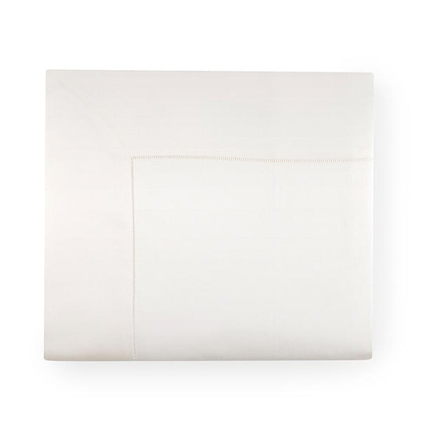 Milos Ivory Flat Sheet by Sferra | Fig Linens and Home