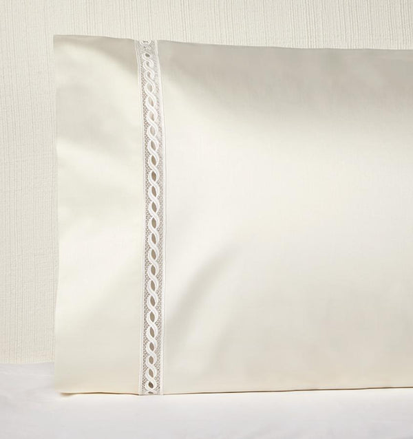 Millesimo Ivory Pillowcase by Sferra | Fig Linens and Home