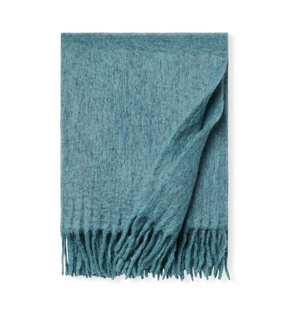 Motto Aqua Throw Blanket by Sferra | Fig Linens and Home