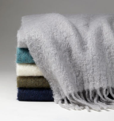 Motto Alpaca Blend Throw Blankets by Sferra | Fig Linens and Home