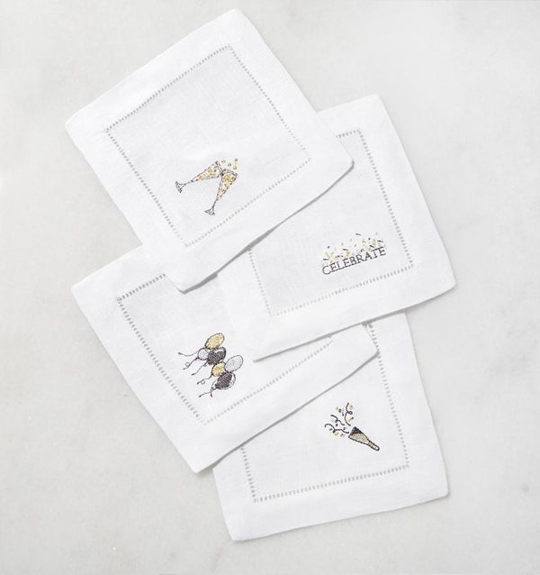 Fig Linens - Sferra Table Linens - Celebrations Cocktail Napkins