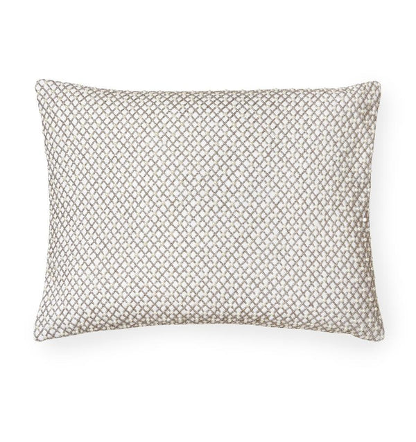 Perla Decorative Pillow with Pearl and Metallic beading by Sferra | Fig Linens and Home