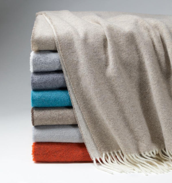 Renna Cashmere Throws by Sferra - Cashmere Throw Blankets at Fig Linens