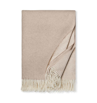 Renna Natural Throw by Sferra - Cashmere Throw Blankets at Fig Linens