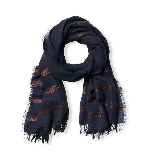 Sossi Navy and Copper Scarf by Sferra | Fig Linens and Home