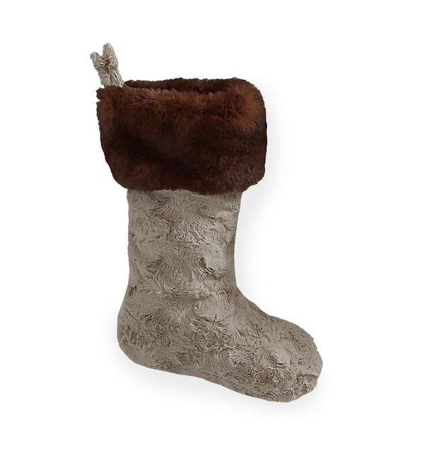 Stivali Fawn Faux Fur Stocking by Sferra | Fig Linens and Home