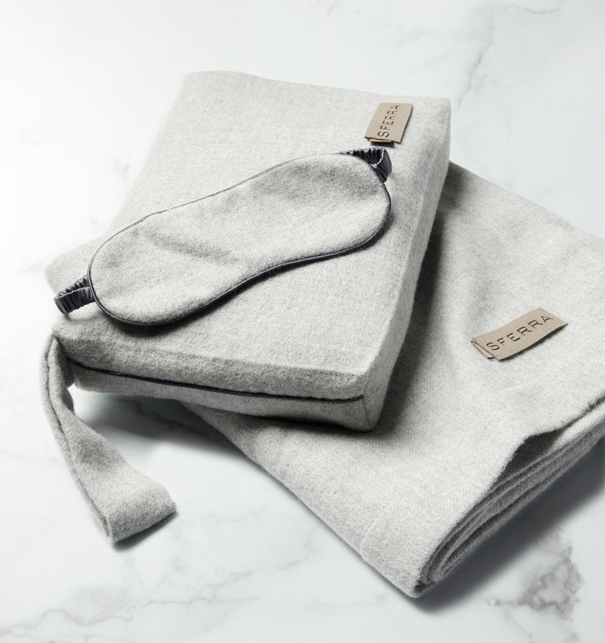 Viaggio Grey Luxury Travel Set by Sferra | Fig Linens and Home