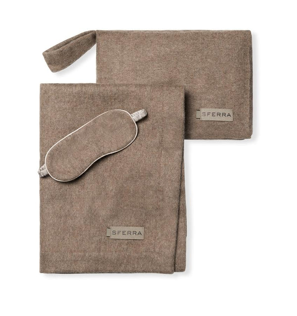 Viaggio Mocha Luxury Travel Set by Sferra | Fig Linens and Home