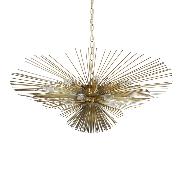 Antique Brass Urchin Chandelier by Worlds Away | Fig Linens
