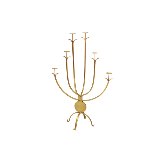 Alonso Large Gold Candle Holder by Worlds Away | Fig Linens and Home
