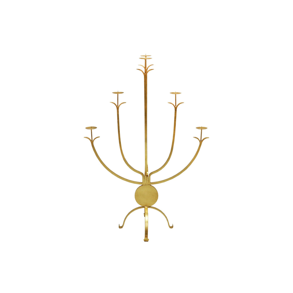 Large Gold Candle Holder by Worlds Away | Fig Linens and Home