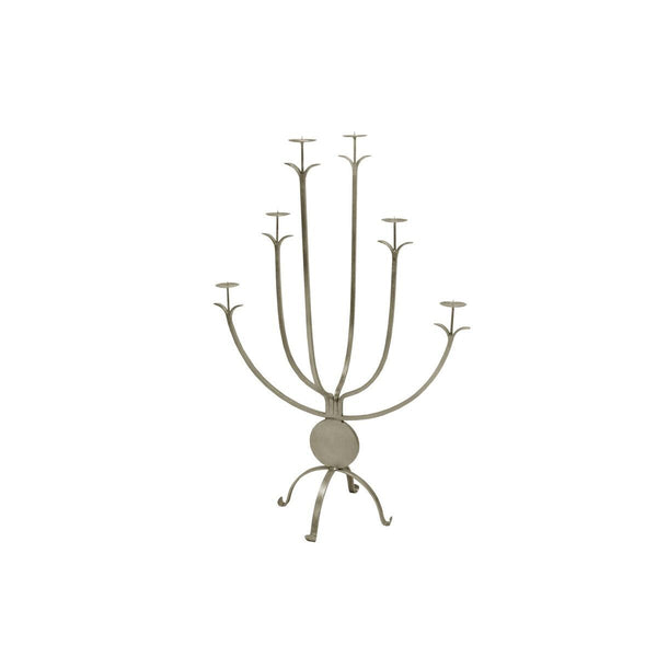 Alonso Large Silver Candle Holder by Worlds Away | Fig Linens and Home