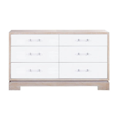 Front - Crawford White Chest by Worlds Away | Fig Linens and Home