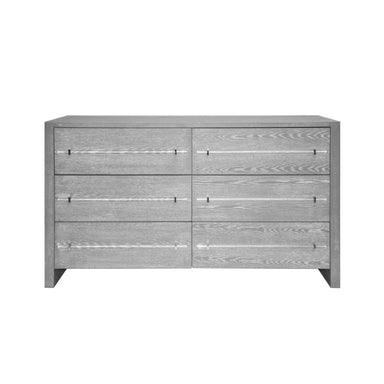6 Drawer Grey Cerused Oak Dresser by Worlds Away | Fig Linens and Home