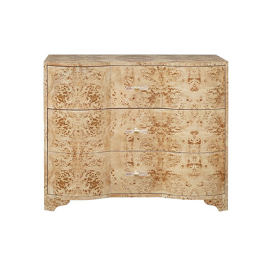 Plymouth Burl Wood 3 Drawer Chest by Worlds Away | Fig Linens and Home