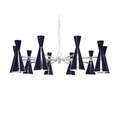 Fleming Navy & Nickel Chandelier by Worlds Away | Fig Linens and Home