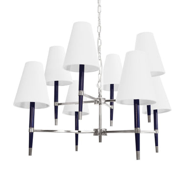 Hines Navy & Nickel Chandelier by Worlds Away | Fig Linens and Home