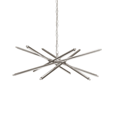 Nickel 12 Light Chandelier by Worlds Away | Fig Linens and Home