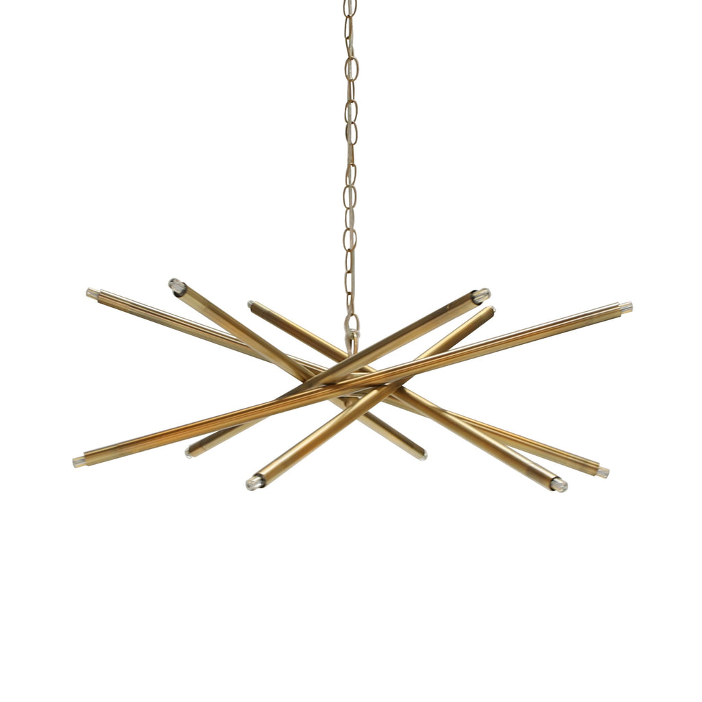 Antique Brass Contemporary Chandelier by Worlds Away | Fig Linens